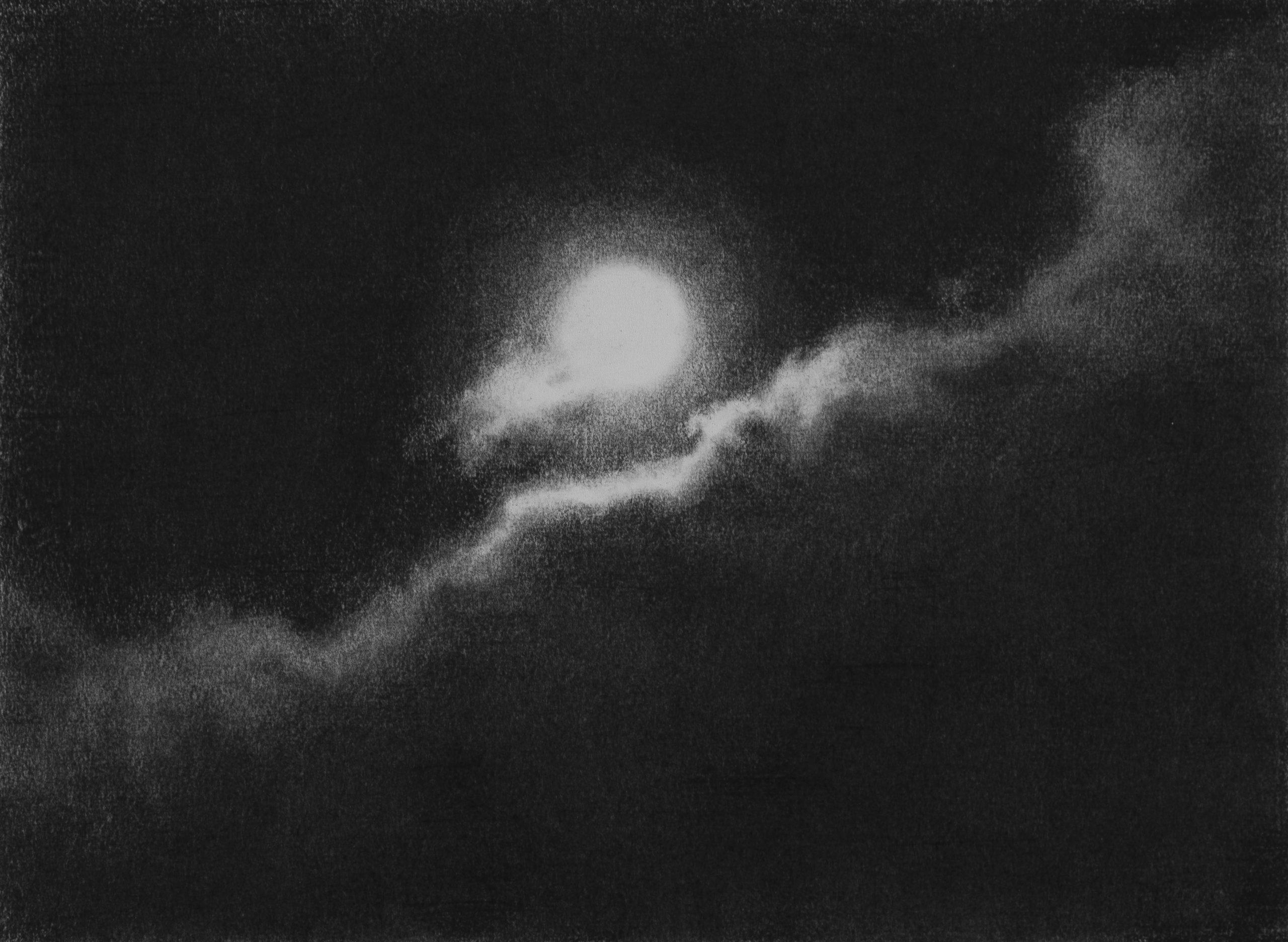 GONZALO-SICRE.-LA-CHOLEPA-2-Nocturno II Lápiz Conté sobre papel 30 x 40 cm. 2020