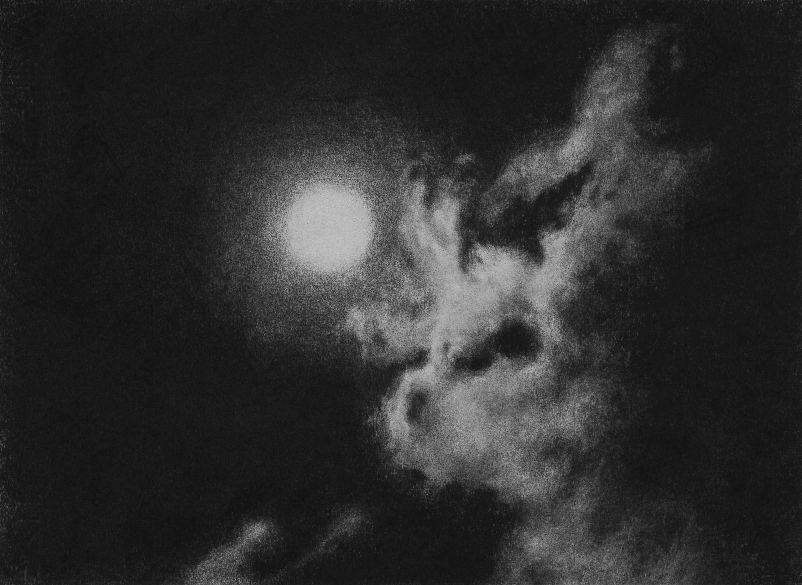 GONZALO-SICRE.-LA-CHOLEPA-3-Nocturno III Lápiz Conté sobre papel 30 x 40 cm. 2020